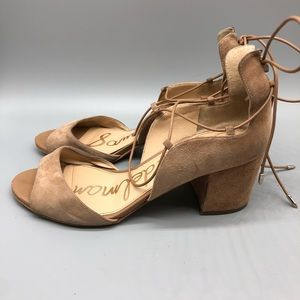 Sam Edelman Shoes - Sam Edelman suede lace-up anklevtie block heels